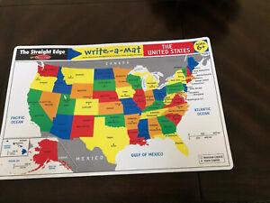 Melissa Doug Write-A-Mat United States Teaching tool