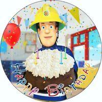 Feuerwehrmann Sam Eßbar Tortenaufleger Party Deko Tortenbild Muffin Geburtstag