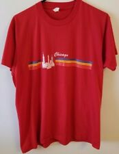 Vintage 80's Chicago shirt rainbow like stripes Rare Mens size XL
