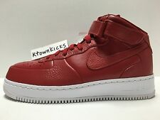 Nike NIKELAB Air Force 1 Mid Gym Red, White 819677 600 Men's Size 10