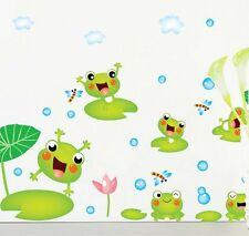Baby FROG Bathroom Removable stickers cartoon wallpaper living room school decor