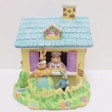 Easter Porcelain Building, Yellow with Blue Roof, Used no Cord or Box