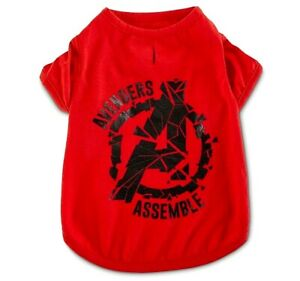 Marvel Avengers Red Dog T-shirt Apparel Pet Fans Clothing Collection L or XL Nwt
