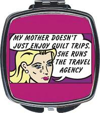 Kingsley DOUBLE MIRROR Compact, MOTHER GUILT TRIPS TRAVEL AGENCY