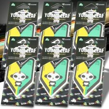 6x Tree Frog Young Leaf Paper Panda J9/Midnight Squash Scent Air Freshener Auto