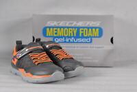 Youth Boy's Skechers Skech-Train Sneakers Chracoal/Orange   11