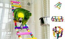 New listing Mrli Pet Ladder Bird Toys for Bird Parrot Macaw African 8 Ladders 22 inches