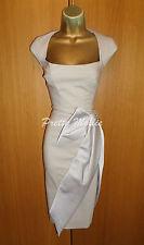 Stunning Karen Millen Grey Bow Galaxy Dress UK 8 36 Wiggle Pencil Xmas Party