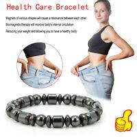 Perte de poids ronde pierre noire bracelet magnétique thérapie hommes femmes