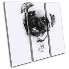 Pug Sketch Modern  Animals TREBLE TOILE murale ART Photo Print