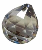 40mm Satin Gray Ball Chandelier Crystal Prism Asfour Lead Crystal