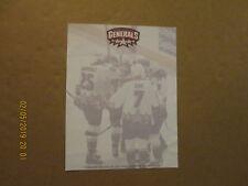 Echl Greensboro Generals Vintage Defunct Unused Team Logo Hockey Letterhead