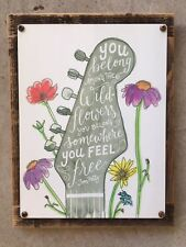 Tom Petty Guitar Wildflowers Rock Song Poster Framed Metal Sign Home Decor