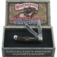 Winchester Brown Checkered Bone Collectors Edition Trapper Pocket Knife