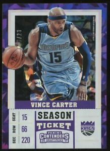 2017 Contenders DP Cracked Ice Season Ticket #48 Vince Carter Kings 6/23