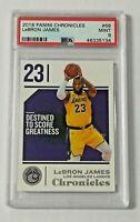 2018-19 Panini Chronicles PSA 9 Lebron James #68 Los Angeles Lakers