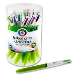 4-in-1 Ballpoint Pens. Pack of 36. Pastel Colours.