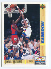 1993 Upper Deck French McDonald's #24 Dikembe Mutombo carte NBA Basketball
