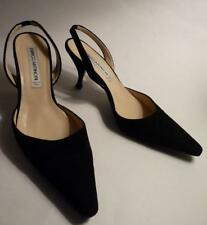 ENRICO ANTINORI BLACK SUEDE SLING BACK SHOES 37.5