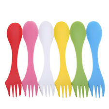 6x Multifunction Camping Hiking Utensils Spork Combo Travel Gadget Spoon Fork MA