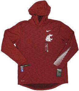 NIKE WSU Washing State Cougars Dri-Fit Hoodie Tee- L- NEW- $50 athletic shirt