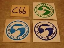 "C66 Vintage Eastern Surfing Association ESA LOT OF 3 STICKERS 2 7/8"" DIAMETER"