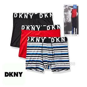 3 X DKNY Men's Cotton Stretch Boxer Briefs Midways Sport Underwear New AU