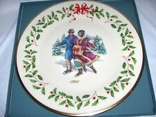 Lenox Holiday Annual Christmas Plate Skaters 1998 Boxed Nice