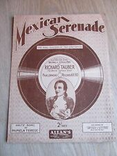 Vintage Voice and Piano Music Sheet, Mexican Serenade by Richard Tauber