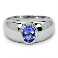 7x5mm Natural Lavender Blue Tanzanite Ring in 925 Sterling Silver