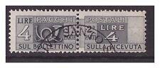 PACCHI POSTALI   RUOTA  1946-51   -  LIRE 4  USATO