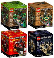 Brand New LEGO Minecraft Micro World 4 Sets (21102 21105 21106 21107)