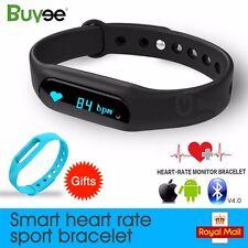 OLED Bluetooth Smart Watch Wristband Bracelet Heart Rate Pedometer Fitness Track