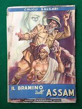 Emilio SALGARI - IL BRAMINO DELL'ASSAM , Ed Carroccio (1947) Collana Popolare