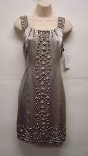 NWT Eci New York Studded Grey Dress Size 8 Retails$109 Nice!!