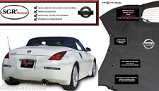 Fits: EZ ON Nissan 350Z Convertible Top & Glass Window 2003-09 Black Twillweave