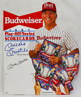 MICKEY MANTLE SIGNED BUDWEISER CARDBOARD NEW YORK YANKEES AUTOGRAPHED PSA/DNA