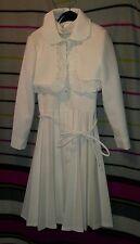 Kommunionkleid mid century 60/70er Jahre 70s Kleid Polyesterkleid Maedchenkleid