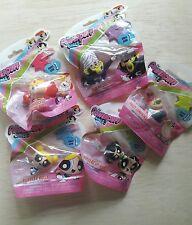 New Series 1 Powerpuff Girls Mini Figure Figurine Bags Set 5 Pc Lot