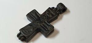1008. Pilgrim -Holy Land Reliquary Cross Pendant 12th-13en  Century AD