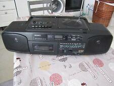 SONY CFD-50L  Radio cassette lecteur CD GHETTOBLASTER Retro Portable