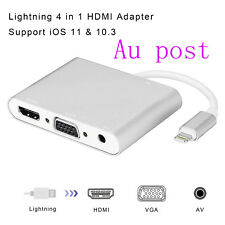 Lightning to HDMI/HDTV/VGA/cable Adapter For iPhone X 8 6 6S 7 7 Plus Ipad Air
