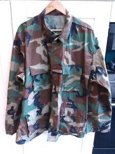 US Army Woodland Camouflage Shirt Size Extra Large Long