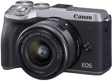 Open Box Canon EOS M6 Mark II + EF-M 15-45mm F/3.5-6.3 IS STM + EVF Kit, Silver