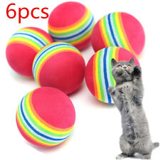6pcs Pet Cat Kitten Soft Foam Rainbow Play Balls Colorful Funny Activity Toys