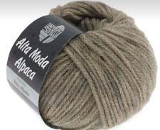 15,90€/100g Lana Grossa Alta Moda Alpaca 50 g Fb. 15 grau/beige meliert