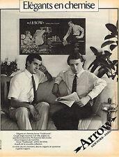 PUBLICITE ADVERTISING 104  1981   ARROW   chemises homme