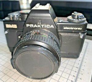 Praktica BMS SLR camera for 35mm film with Pentacon 50mm f1.8 lens, late 1980s