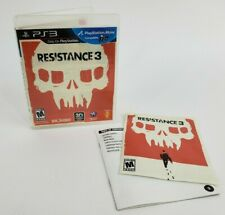 Resistance 3 (Sony PlayStation 3, 2011) Excellent Conditions W/ Booklet