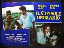 FOTOBUSTA CINEMA - IL CONSOLE ONORARIO - R. GERE, M. CAINE - 1983 -DRAMMATICO-02